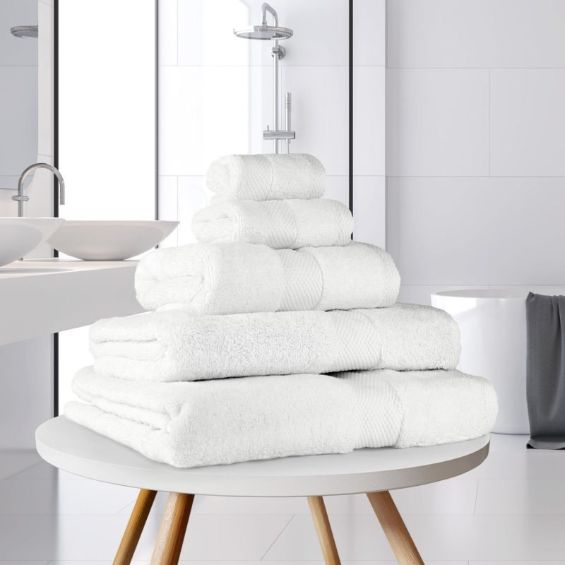 Ultima Collection - 640g Soft and Full Towel Range in White